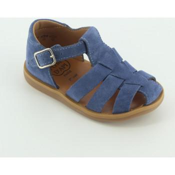 Scarpe Unisex bambino Sandali Pom d'Api POPPY DADDY sandalo chiuso Blu