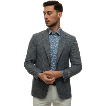Abbigliamento Uomo Giacche / Blazer Canali L21288-CF03392304 Blu-bianco