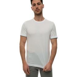 Abbigliamento Uomo T-shirt maniche corte Canali T0691-MJ01037001 Bianco