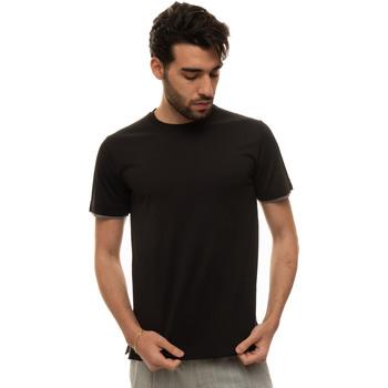 Abbigliamento Uomo T-shirt maniche corte Canali T0691-MJ01037100 Nero