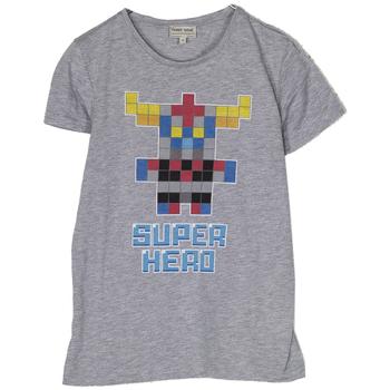 Abbigliamento Bambino T-shirt maniche corte Frankie Garage T-SHIRT STAMPA SUPER HERO grigio (GRIGIO)