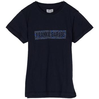 Abbigliamento Bambino T-shirt maniche corte Frankie Garage T-SHIRT LOGO RAGAZZO blu (BLU)