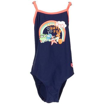 Abbigliamento Bambina Costume intero Arena COSTUME AWT STAMPA BIMBA blu (709NVY)