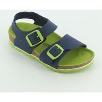 Scarpe Bambino Sandali Birkenstock 1015756 New York blu-verde Blu
