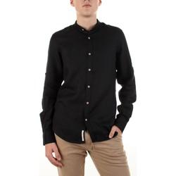 Abbigliamento Uomo Camicie maniche lunghe Yes Zee C506-U400 Nero