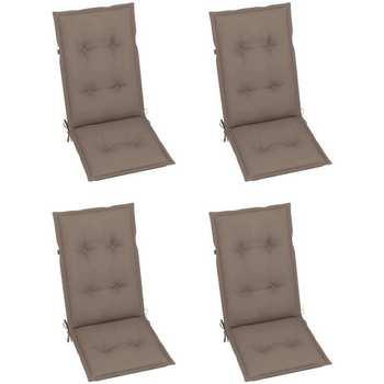 Casa Coprisedia VidaXL Cuscino per sedia da giardino 120 x 50 x 7 cm Grigio talpa