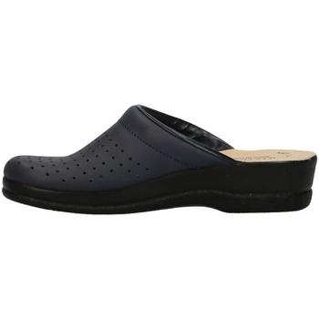Scarpe Donna Zoccoli Fly-Flot - Pantofola blu 63028BE BLU