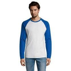 Abbigliamento Uomo T-shirts a maniche lunghe Sols FUNKY LSL Blanco Azul Royal Azul