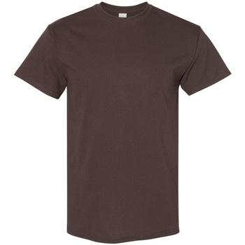 Abbigliamento Uomo T-shirt maniche corte Gildan 5000 Marrone scuro