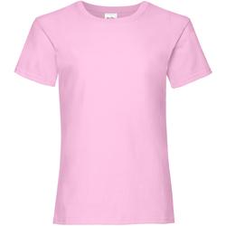 Abbigliamento Bambina T-shirt maniche corte Fruit Of The Loom 61005 Rosa chiaro