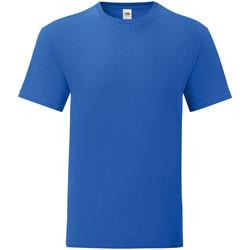 Abbigliamento Uomo T-shirt maniche corte Fruit Of The Loom 61430 Blu reale