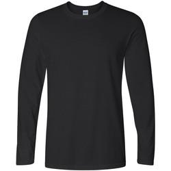 Abbigliamento Uomo T-shirts a maniche lunghe Gildan 64400 Nero