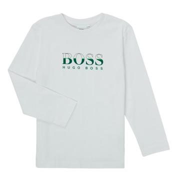 Abbigliamento Bambino T-shirts a maniche lunghe BOSS SOPELAS Bianco