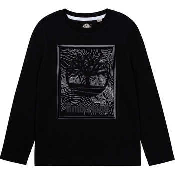 Abbigliamento Bambino T-shirts a maniche lunghe Timberland AIFRET Nero