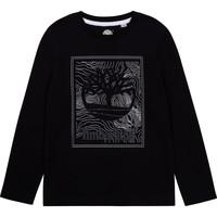 Abbigliamento Bambino T-shirts a maniche lunghe Timberland BAGIRI Nero