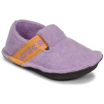 Scarpe Bambina Pantofole Crocs CLASSIC SLIPPER K Viola / Giallo
