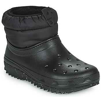 Scarpe Donna Stivali da neve Crocs CLASSIC NEO PUFF SHORTY BOOT W Nero