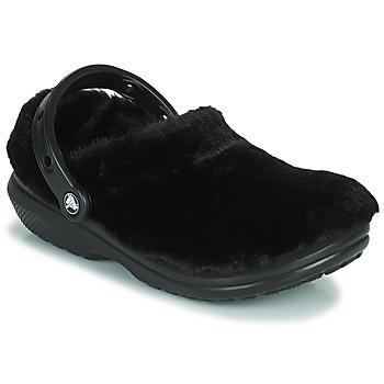 Scarpe Donna Zoccoli Crocs CLASSIC FUR SURE Nero