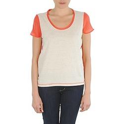 Abbigliamento Donna T-shirt maniche corte Eleven Paris EDMEE Beige / Arancio