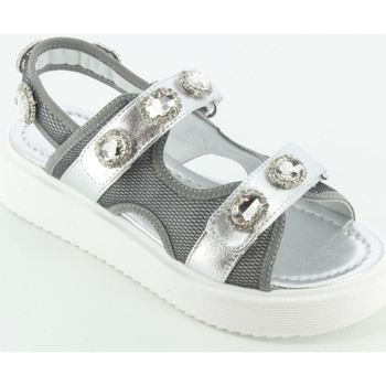 Scarpe Bambina Sandali Andrea Montelpare 67941 sandalo pietre Argento