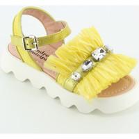 Scarpe Bambina Sandali Andrea Montelpare 67951 sandalo raffia e pietre Giallo