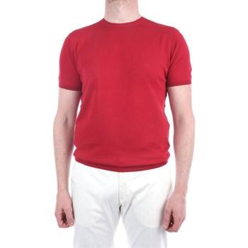Abbigliamento Uomo T-shirt maniche corte Lbm 1911 19023-6400 Manica Corta Uomo Rosso Rosso
