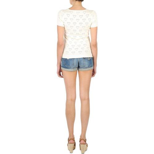 Consegna Shirt Manoush 10750 T Gratuita Tee Valentine Maniche Donna Corte Abbigliamento shirt Ecru byY7g6f