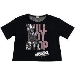 Abbigliamento Bambina T-shirt maniche corte Dimensione Danza T-SHIRT CROPPED M/M BIELASTICO GIRL Nero