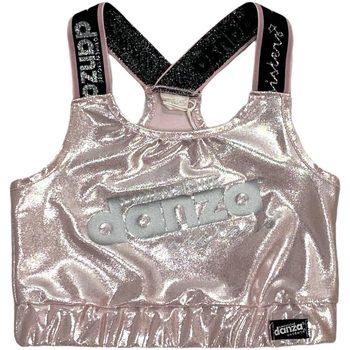 Abbigliamento Bambina Top / T-shirt senza maniche Dimensione Danza TOP LYCRA+BIELASTICO GIRL Pink