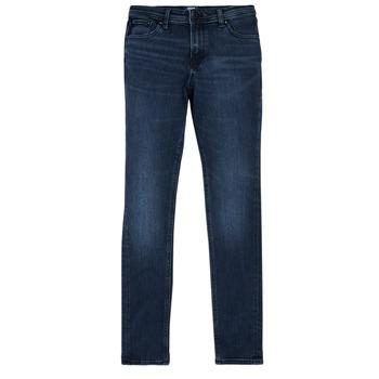 Abbigliamento Bambino Jeans slim Jack & Jones JJILIAM Blu / Scuro