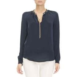 Abbigliamento Donna Camicie MICHAEL Michael Kors CAMICIA IN SETA Blu