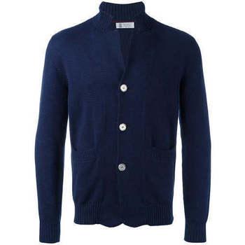 Abbigliamento Uomo Felpe Brunello Cucinelli MAGLIA CARDIGAN Blu