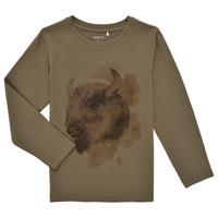 Abbigliamento Bambino T-shirts a maniche lunghe Name it NMMKEVIN LS TOP Kaki