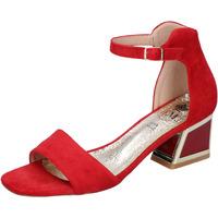 Scarpe Donna Sandali Francescomilano BH35 Rosso