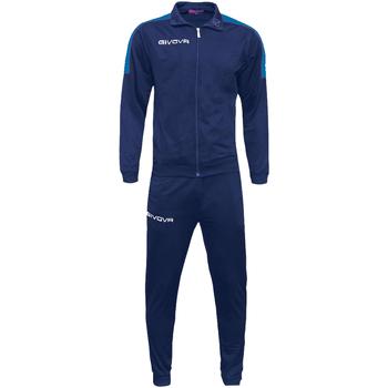 Abbigliamento Uomo Tuta Givova tr033 Tute Uomo Blu Blu