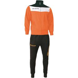 Abbigliamento Uomo Tuta Givova tr024 Tute Uomo Arancione Arancione