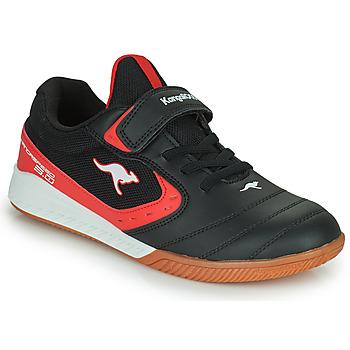 Scarpe Unisex bambino Sneakers basse Kangaroos K5-COURT EV Nero / Rosso