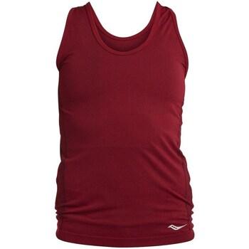 Abbigliamento Donna Top / T-shirt senza maniche Saucony SAW800099 Bordeaux