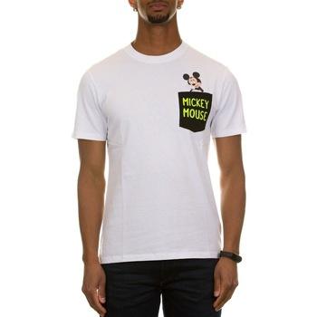 Abbigliamento Uomo T-shirt maniche corte Mc2 Saint Barth AUS0001 EMKT00 - EMB MICKEY TH 0100 Bianco