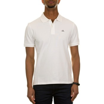 Abbigliamento Uomo Polo maniche corte C.p. Company 10CMPL068A-005263W GAUZE WHITE 103 Bianco