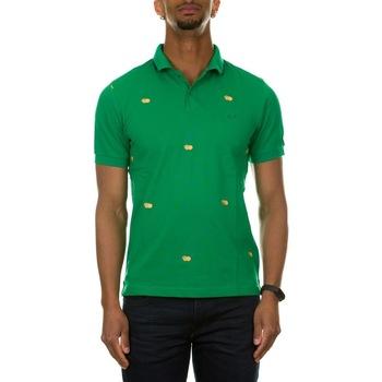 Abbigliamento Uomo Polo maniche corte Sun68 A31126 - 88 VERDE PRATO Verde