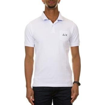 Abbigliamento Uomo Polo maniche corte Sun68 A31109 - 01 BIANCO Bianco