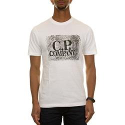 Abbigliamento Uomo T-shirt maniche corte C.p. Company 10CMTS204A006011W - 103 - GAUZE WHITE Bianco