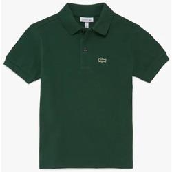 Abbigliamento Unisex bambino Polo maniche corte Lacoste YPJ2909 Verde