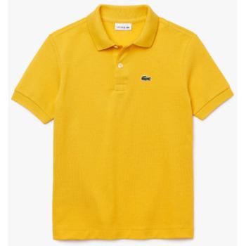 Abbigliamento Unisex bambino Polo maniche corte Lacoste YPJ2909 Giallo