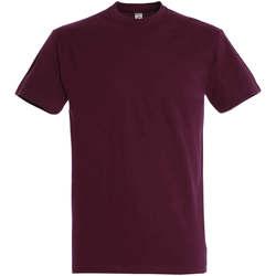 Abbigliamento Donna T-shirt maniche corte Sols IMPERIAL camiseta color burdeos Burdeo
