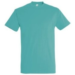 Abbigliamento Donna T-shirt maniche corte Sols IMPERIAL camiseta color Azul Caribeño Azul