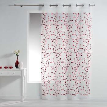 Casa Tende Douceur d intérieur PETITE FLEUR Bianco / Rosso