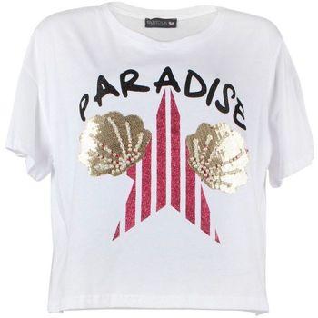 Abbigliamento Donna T-shirt maniche corte Fabiola SONG T-shirt  Donna Bianco Bianco