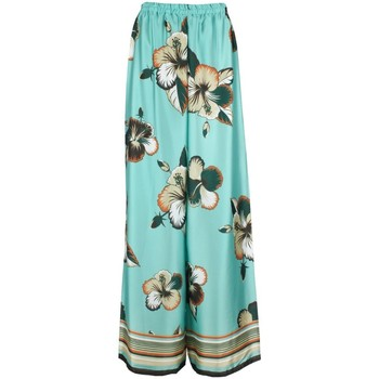 Abbigliamento Donna Pantaloni morbidi / Pantaloni alla zuava Fabiola ZAVIA Pantalone  Donna Turchese Turchese